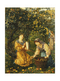Gathering Apples Giclee Print by Thomas Matthews		 Rooke