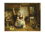 A Family in an Interior Giclee Print by Johannes Petrus Horstok