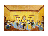 The Colonial Minuet Giclee Print by Pedro		 Figari