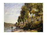 Sunny Morning at Saint Mammes Posters par Alfred Sisley