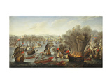 Franco-Spanish Action off the Port of Barcelona in July 1642 Giclee Print by (attributed to) Pierre Puget