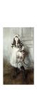 Portrait of Josefina Errazuriz Holding a Cat Premium Giclee Print by Giovanni Boldini