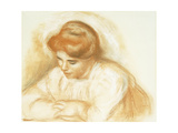 Young Woman Leaning Poster by Pierre-Auguste Renoir