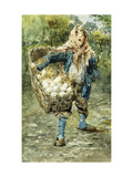 Young Egg Seller Giclee Print by Vincenzo		 Irolli