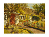 The Garden Cottage Giclee Print by Olaf Viggo Peter		 Langer