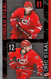 Carolina Hurricanes Staal Duo Poster