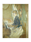 At the Piano, Madame Juliette Pascal in the Salon of the Chateau de Malrome Láminas por Henri Toulouse-Lautrec