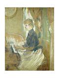 At the Piano, Madame Juliette Pascal in the Salon of the Chateau de Malrome Láminas por Henri Toulouse-Lautrec