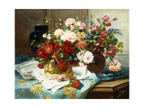Still Life with Flowers and Sheet Music Giclee Print by Jules Etienne		 Carot
