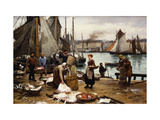 Unloading the Catch Prints by Victor Gabriel		 Gilbert