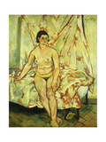 Nude Sat on the Edge of a Bed Giclee Print by Suzanne		 Valadon