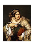 A Greek Mother Giclee Print by Cesare Felix Georges		 Dell'Acqua