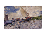Etretat Beach North of Le Havre Prints by Giovanni		 Boldini