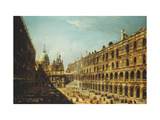 The Courtyard of the Doge's Palace, Venice Prints by Michele		 Marieschi