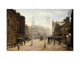 A Bustling Street Scene Poster by Dufaug G.A.