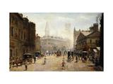 A Bustling Street Scene Premium Giclee Print by Dufaug G.A.