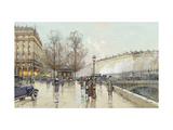 Le Boulevard Pereire, Paris Giclee Print by Eugene Galien-Laloue