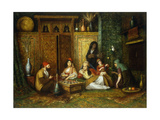 The Chess Game Giclee Print by Henry		 Raschen