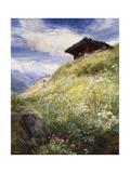 An Alpine Meadow, Switzerland Giclee Print by John MacWhirter