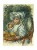 Jean Renoir in a Chair - Child with a Biscuit Prints by Pierre-Auguste		 Renoir