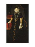 Portrait of the Infanta Isabel Clara Eugenia of Bourbon Giclee Print by Juan Pantoja Cruz