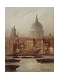 Saint Paul's from Bankside Giclee Print by Frederick E. J. Goff