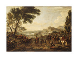 King William III and his Troops preparing for a Battle Premium Giclee Print by Jan		 Wyck