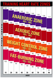 Training Heart Rate Zones Chart (Bright) Posters