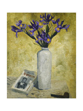 Irises in a Tall Vase Posters by Christopher		 Wood