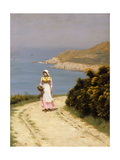 The Cliff Path Posters by Edmund Blair Leighton