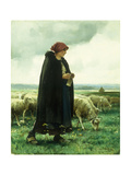 A Shepherdess with her Flock Print by Julien		 Dupre