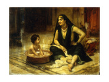 Fellahin and Child, The Bath Giclee Print by Frederick Arthur Bridgman