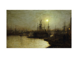 Night Toil, Billingsgate Wharf Giclee Print by John Atkinson Grimshaw