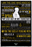 Breaking Bad - Typographic ポスター