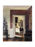 An Interior with a Cello Prints by Carl		 Holsoe