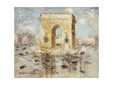 L'Arc de Triomphe, Place of the Star Print by Gustave		 Loiseau