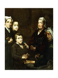 The Breton Family Giclee Print by Theodule		 Ribot
