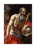 Saint Jerome Print by Hendrik Clerck
