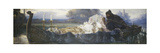 Design for a Frieze: 'The Dead, Oar'd by the Dumb, Went Upward with the Flood' Premium Giclee Print by Ernest		 Normand