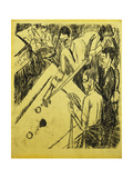 Billiard Player Giclee Print by Ernst Ludwig Kirchner