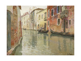 A Venetian Backwater Prints by Frits		 Thaulow