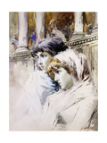 The Young Spectators Giclee Print by Enrico		 Gamba