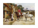 A Puppy for My Lady Premium Giclee Print by Heywood		 Hardy