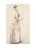 A Tennis Player, Study for 'Memories' Giclee Print by Fernand		 Khnopff