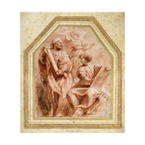 Jeremiah Dictating the Word of God to Baruch the Son of Neriah (Jeremiah 36, 4) Giclee Print by Peter Paul		 Rubens