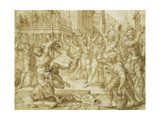 The Stoning of the Elders, from the Story of Susanna Giclee Print by Heemskerck Maarten