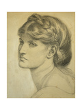 Study of a Head for 'The Bower Meadow' Print by Dante Gabriel Rossetti