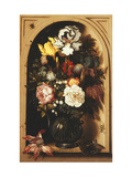 Flowers in a Vase Inside a Niche Print by Ast Balthasar
