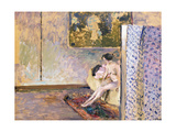 In Bonnard's Studio at 60 Rue de Douai: Nude by a Screen Giclee Print by Edouard		 Vuillard