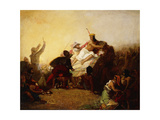 Pizarro Seizing the Inca of Peru Premium Giclee Print by John Everett Millais